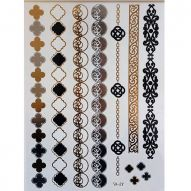 Флеш тату, Metallic Flash Tattoo YS-47